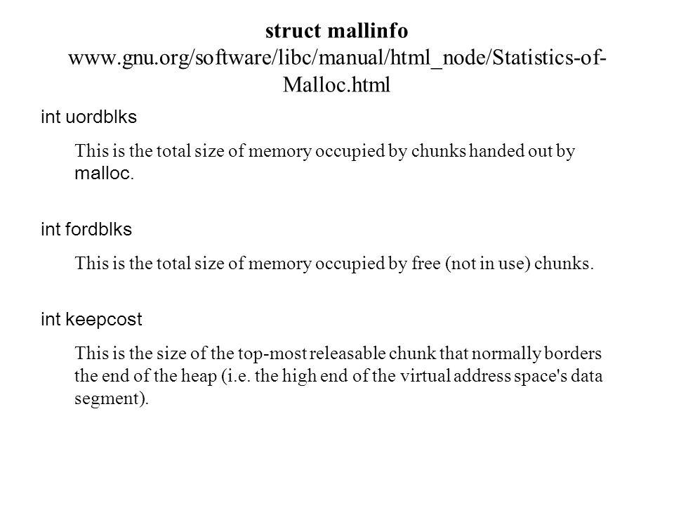 struct mallinfo www. gnu