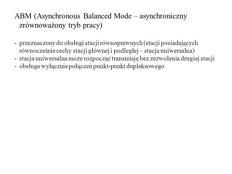 ABM (Asynchronous Balanced Mode – asynchroniczny zrównoważony tryb pracy)