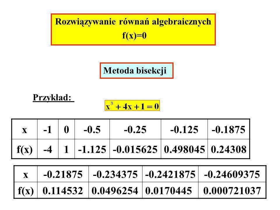 Rozwiązywanie równań algebraicznych