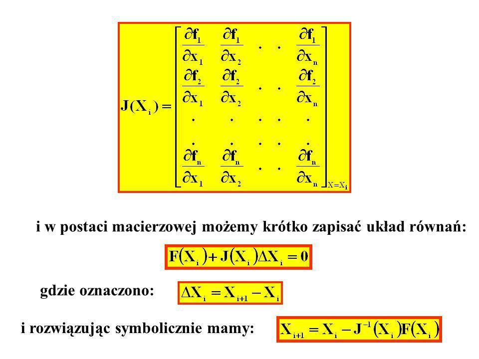 i w postaci macierzowej możemy krótko zapisać układ równań: