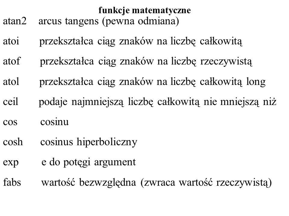 atan2 arcus tangens (pewna odmiana)