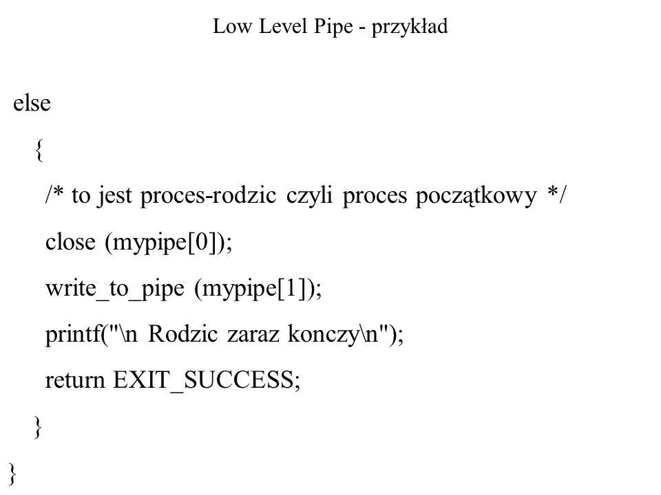 Low Level Pipe - przykład