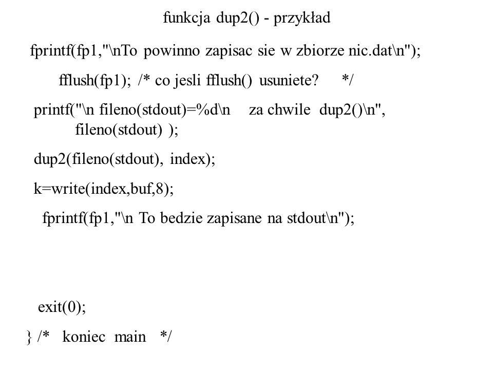 funkcja dup2() - przykład