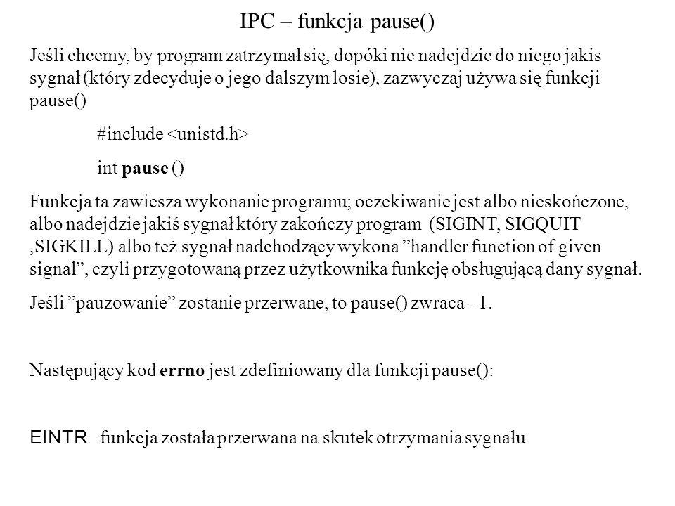 IPC – funkcja pause()