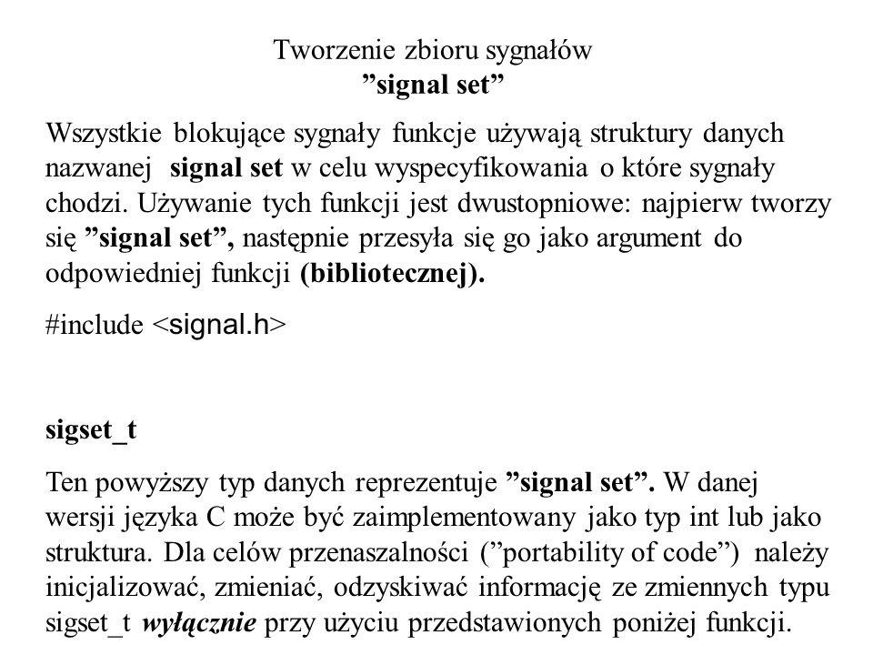 Tworzenie zbioru sygnałów signal set