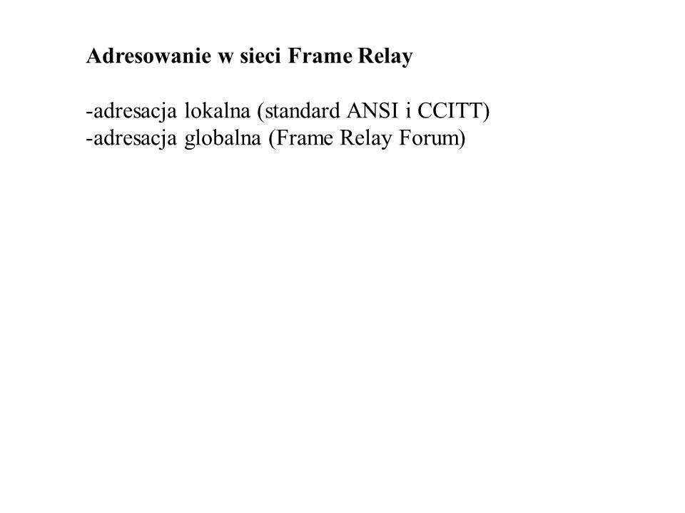 Adresowanie w sieci Frame Relay