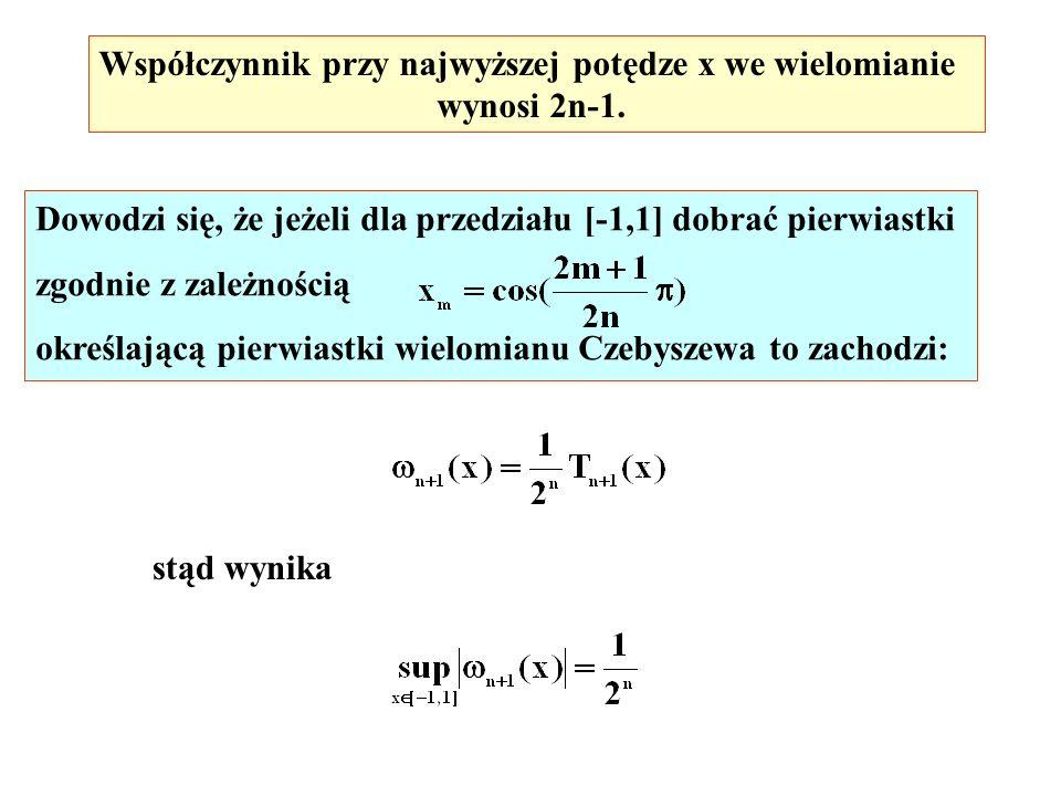 Współczynnik przy najwyższej potędze x we wielomianie