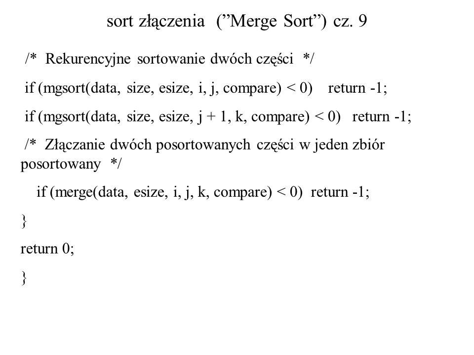 sort złączenia ( Merge Sort ) cz. 9