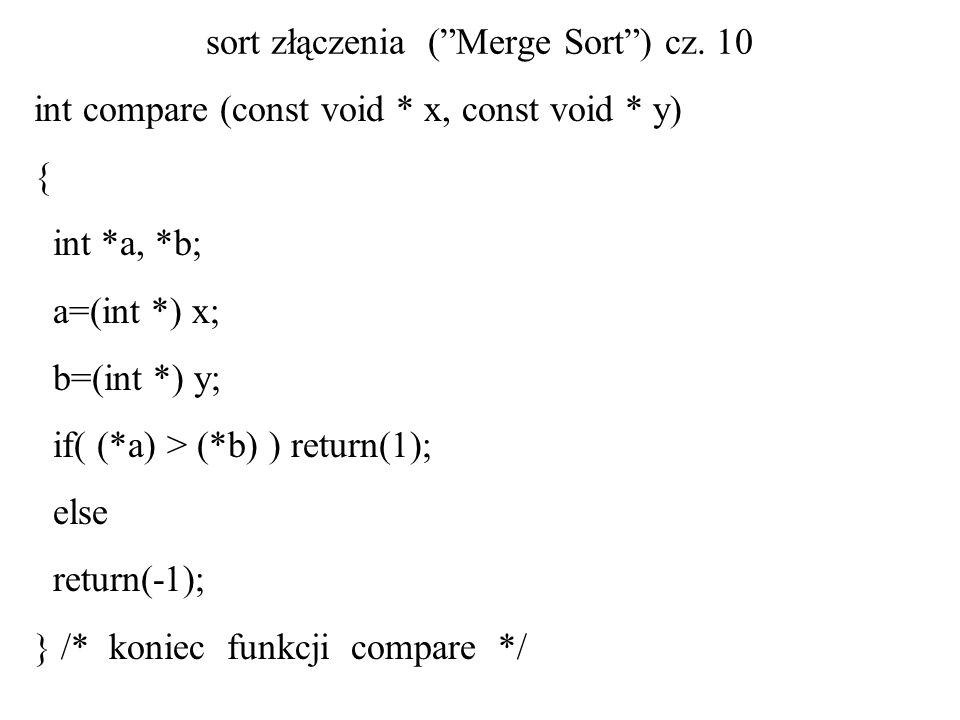 sort złączenia ( Merge Sort ) cz. 10
