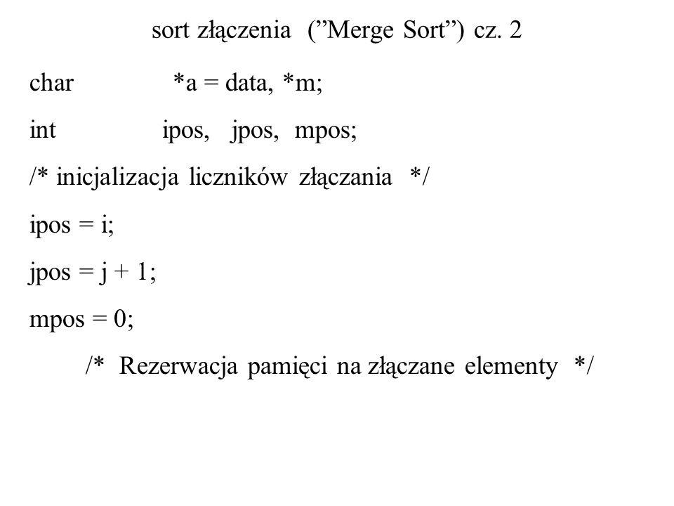 sort złączenia ( Merge Sort ) cz. 2