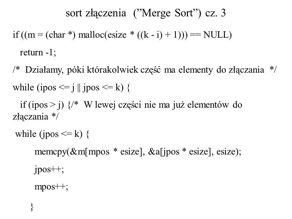 sort złączenia ( Merge Sort ) cz. 3