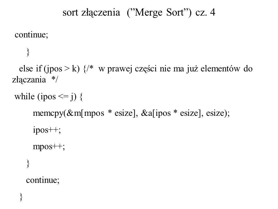sort złączenia ( Merge Sort ) cz. 4