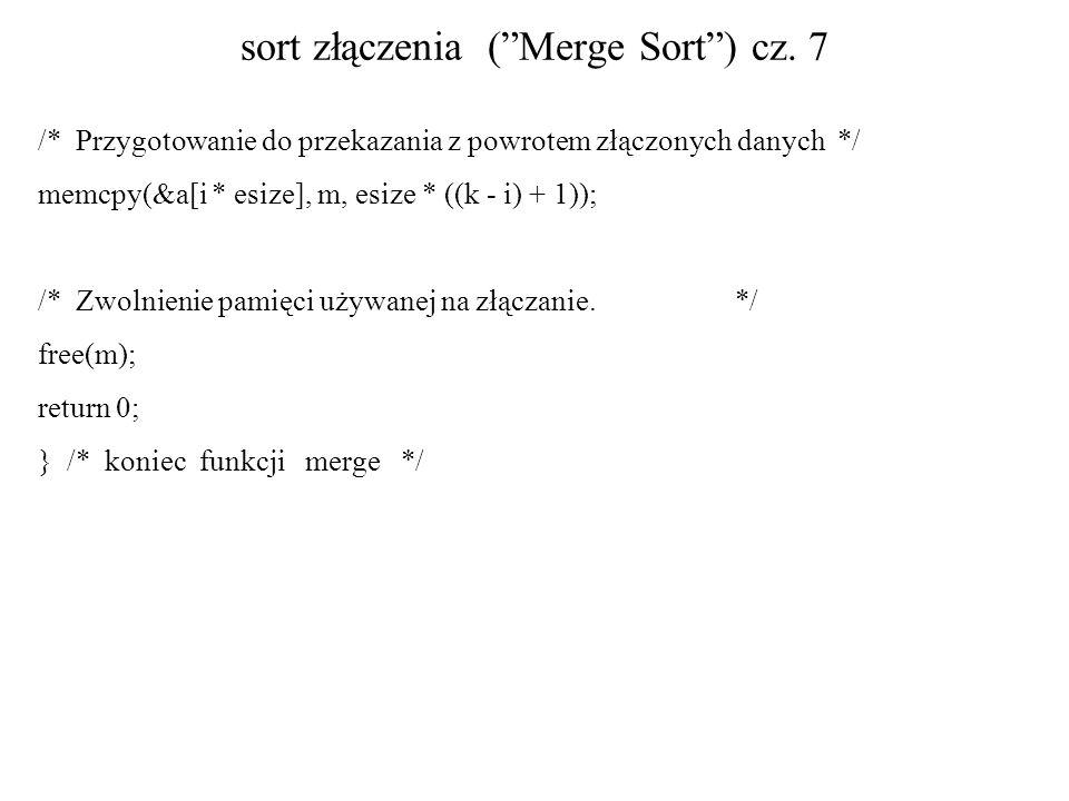 sort złączenia ( Merge Sort ) cz. 7