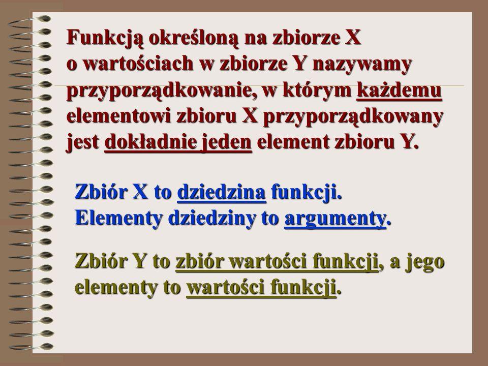 Funkcją określoną na zbiorze X