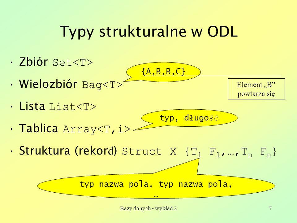 Typy strukturalne w ODL