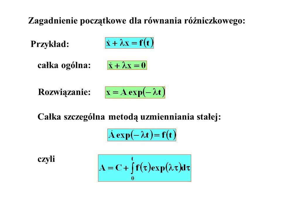 Zagadnienie początkowe dla równania różniczkowego: