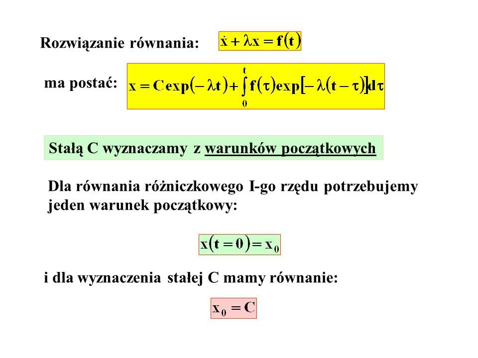 Rozwiązanie równania: