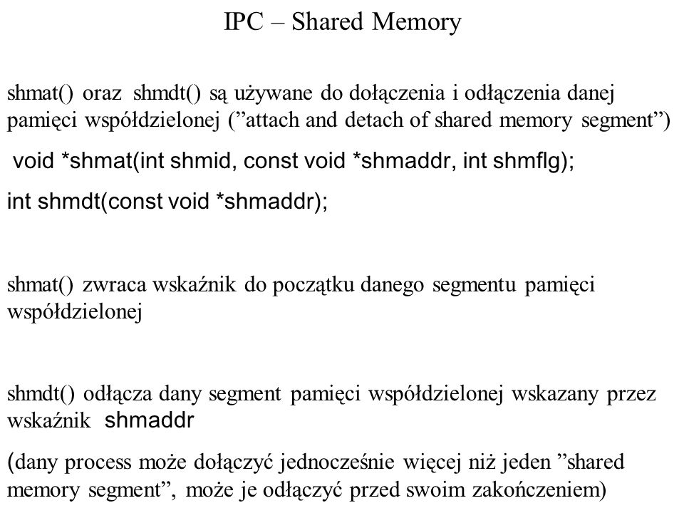 IPC – Shared Memory