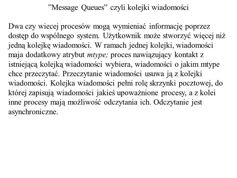 Message Queues czyli kolejki wiadomości
