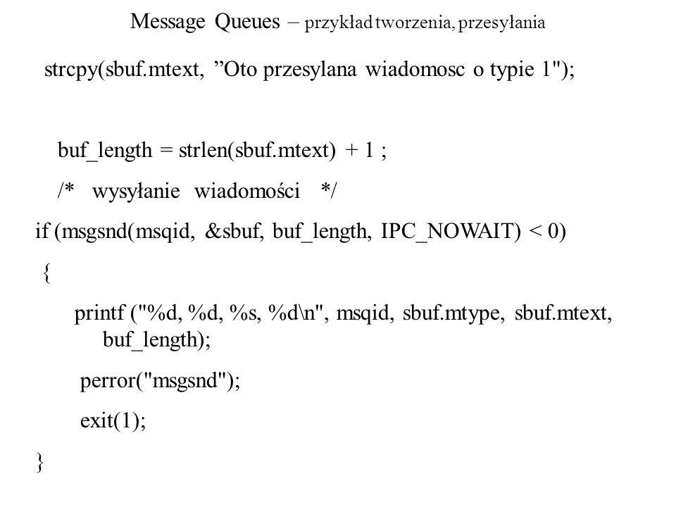 Message Queues – przykład tworzenia, przesyłania