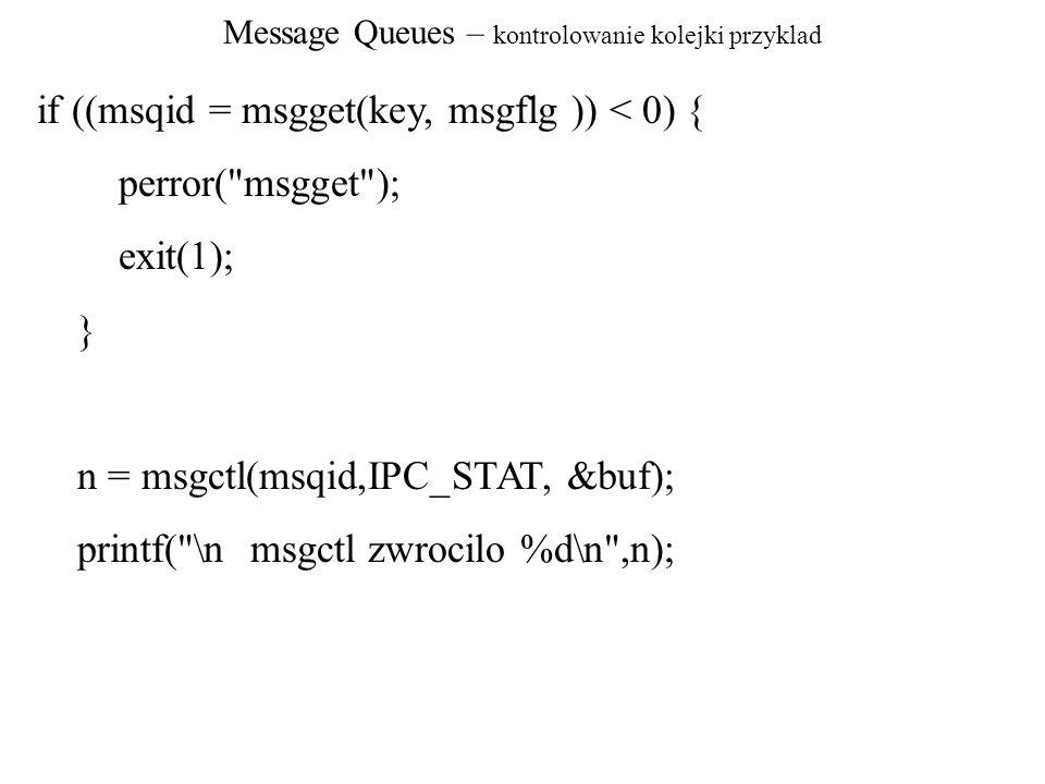 Message Queues – kontrolowanie kolejki przyklad