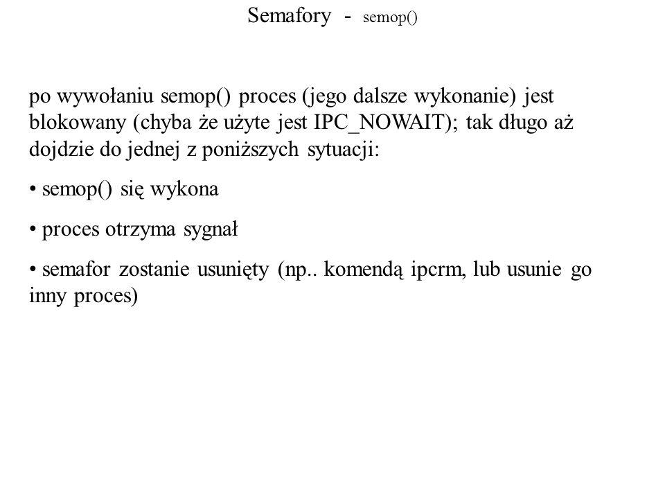 Semafory - semop()
