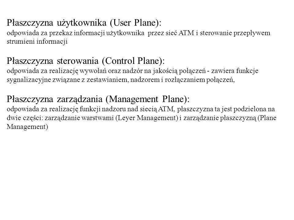 Płaszczyzna użytkownika (User Plane):