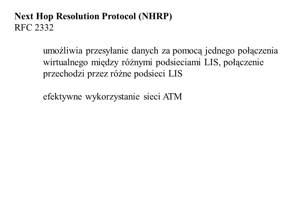 Next Hop Resolution Protocol (NHRP)