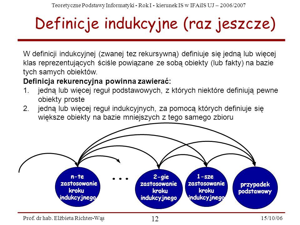 Definicje indukcyjne (raz jeszcze)