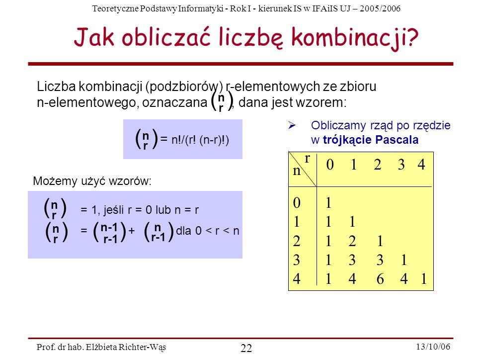 Jak obliczać liczbę kombinacji