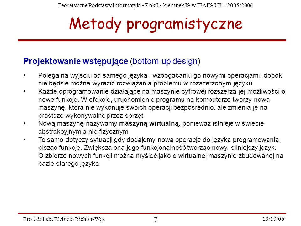 Metody programistyczne