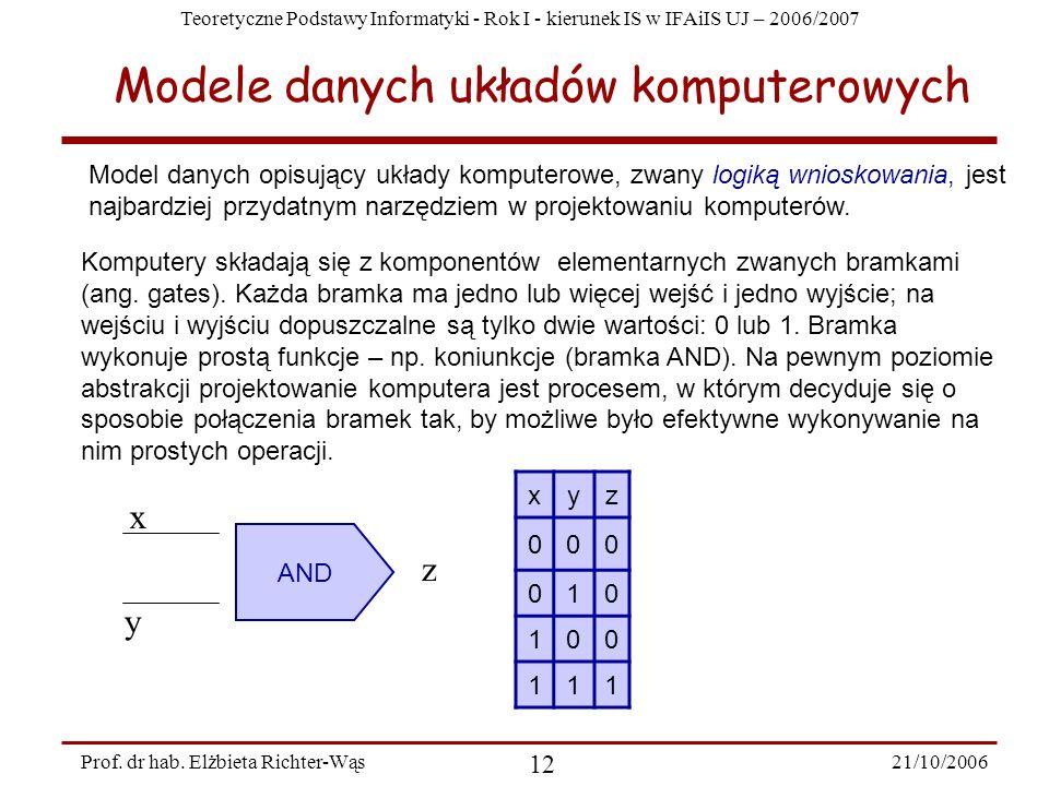 Modele danych układów komputerowych