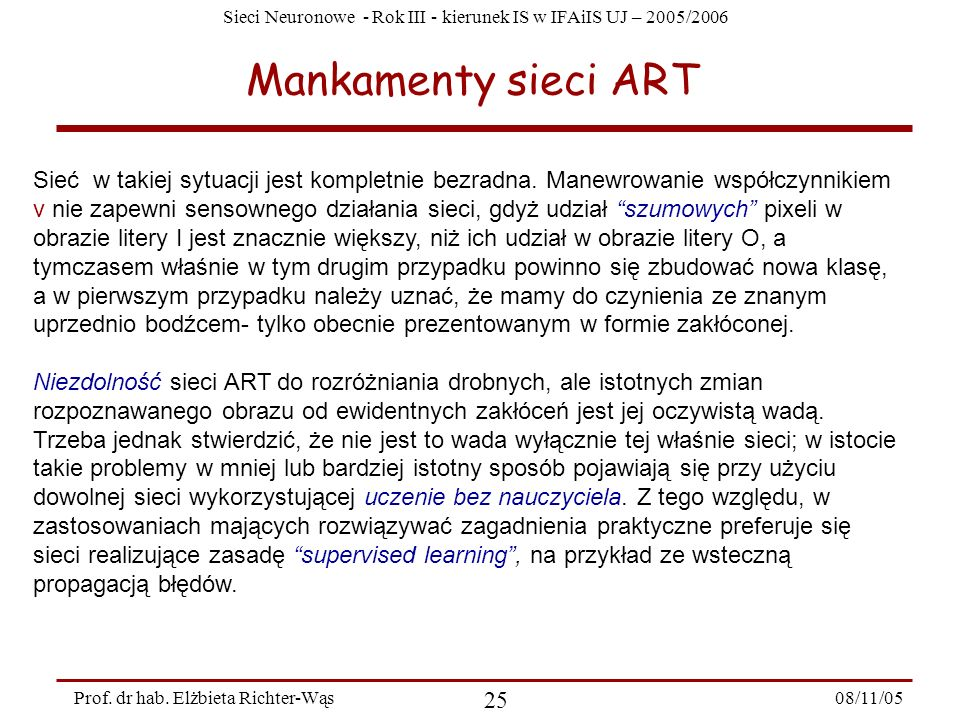 Mankamenty sieci ART