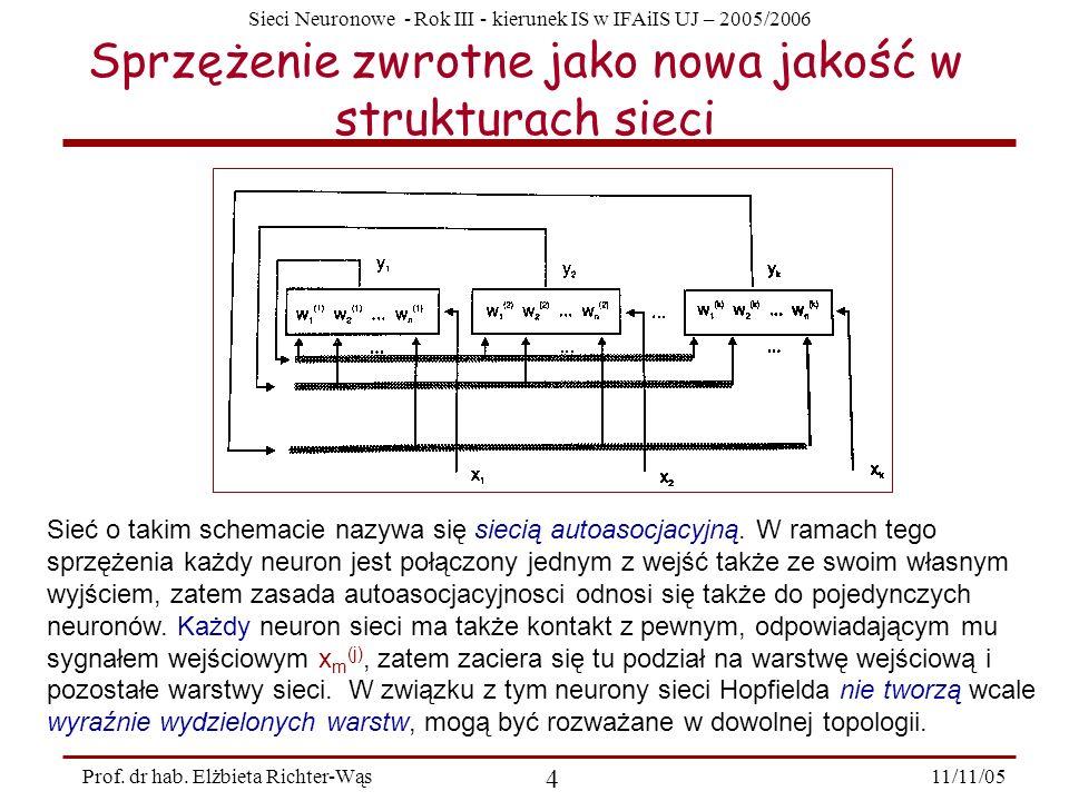 Sprzężenie zwrotne jako nowa jakość w strukturach sieci