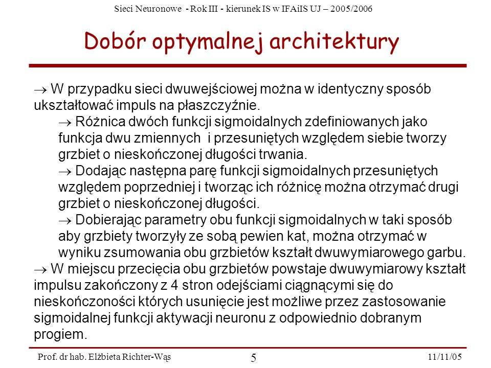 Dobór optymalnej architektury