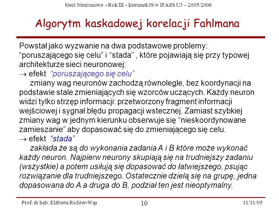 Algorytm kaskadowej korelacji Fahlmana