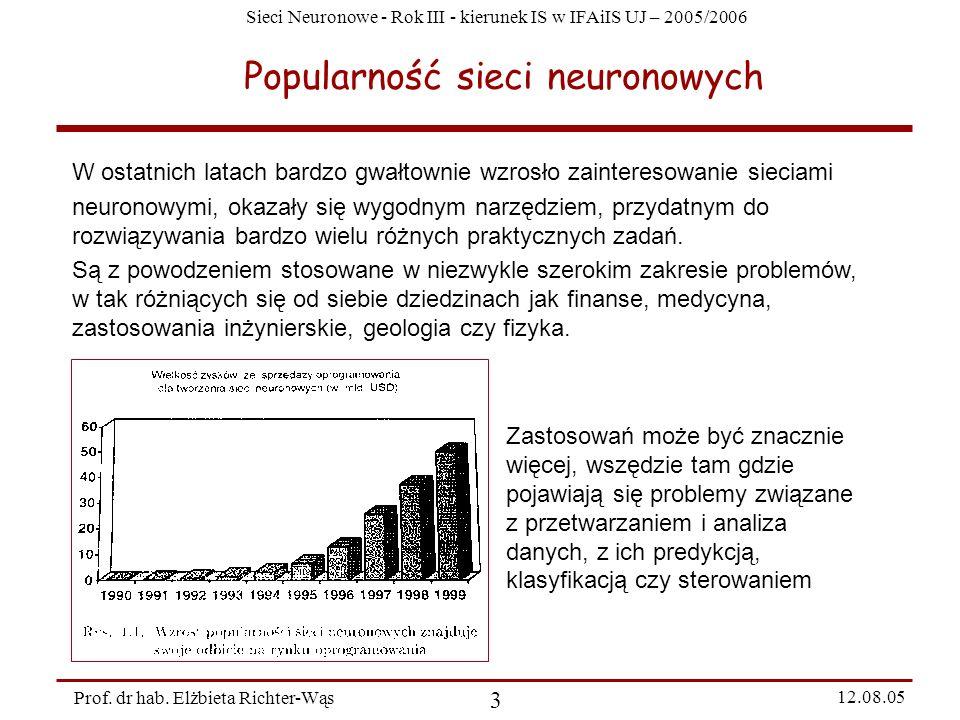 Popularność sieci neuronowych