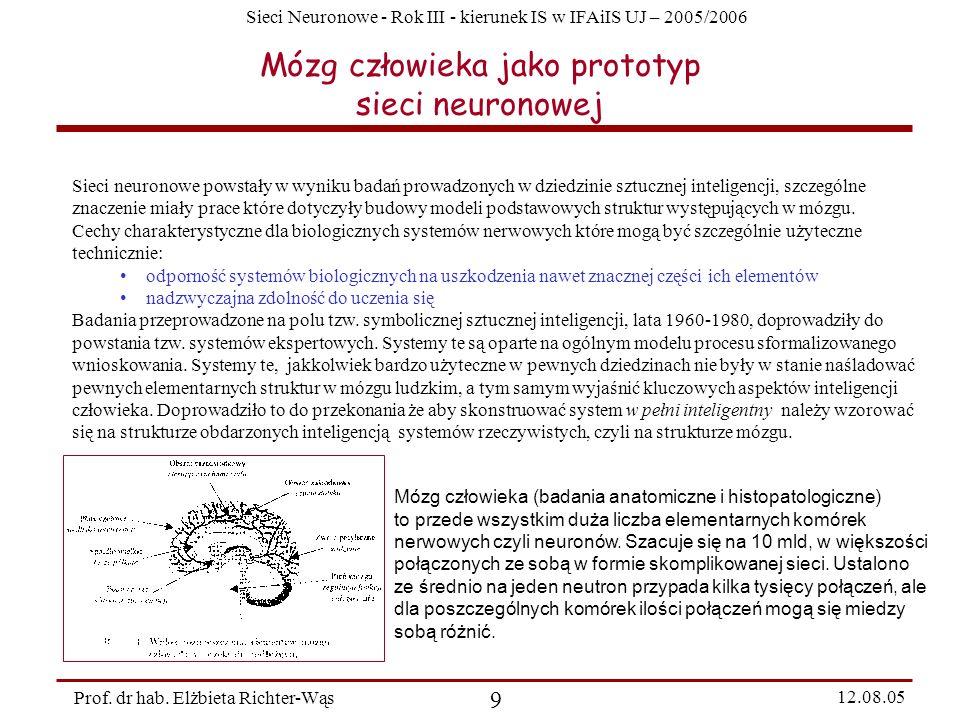 Mózg człowieka jako prototyp sieci neuronowej
