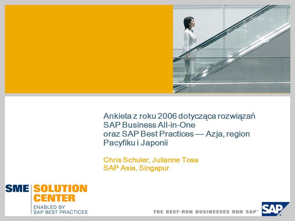 Ankieta z roku 2006 dotycząca rozwiązań SAP Business All-in-One