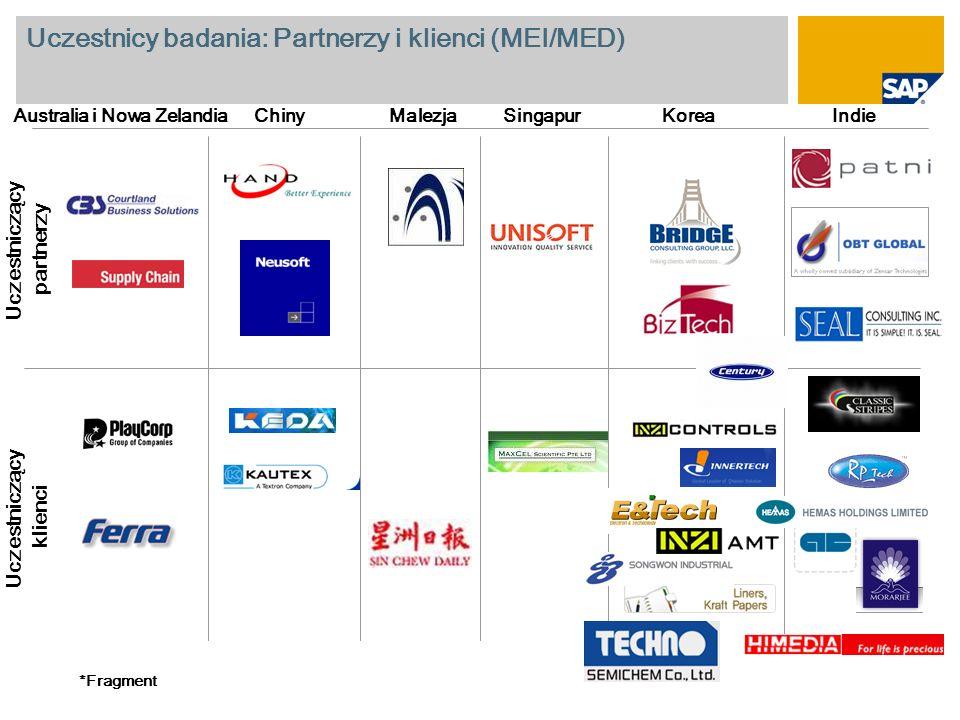 Uczestnicy badania: Partnerzy i klienci (MEI/MED)