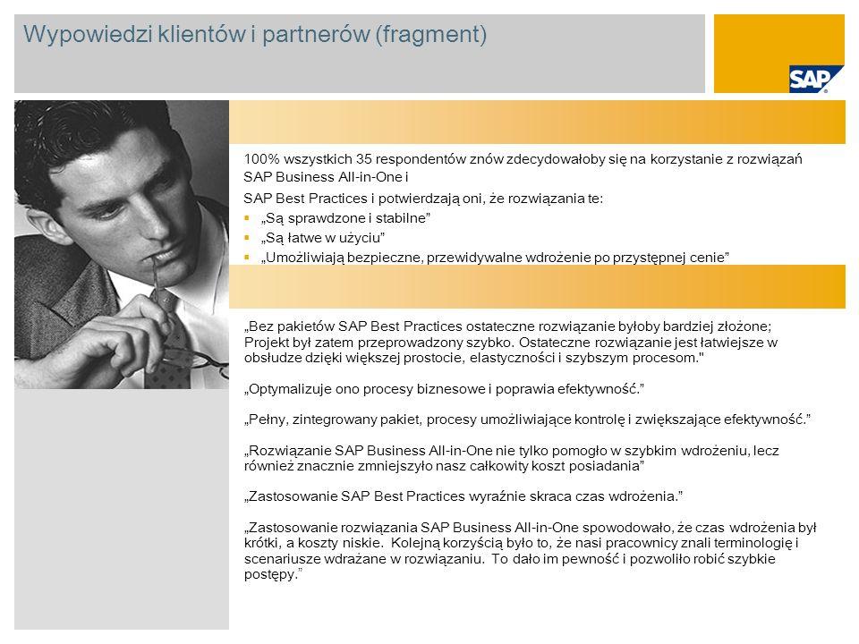 Wypowiedzi klientów i partnerów (fragment)