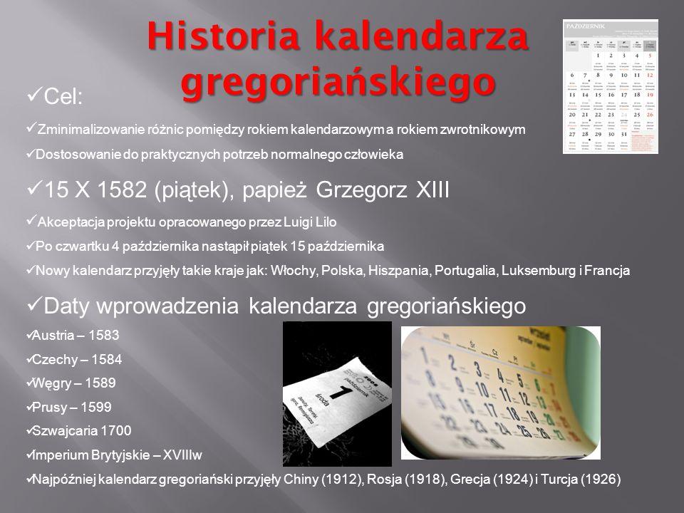 Historia kalendarza gregoriańskiego