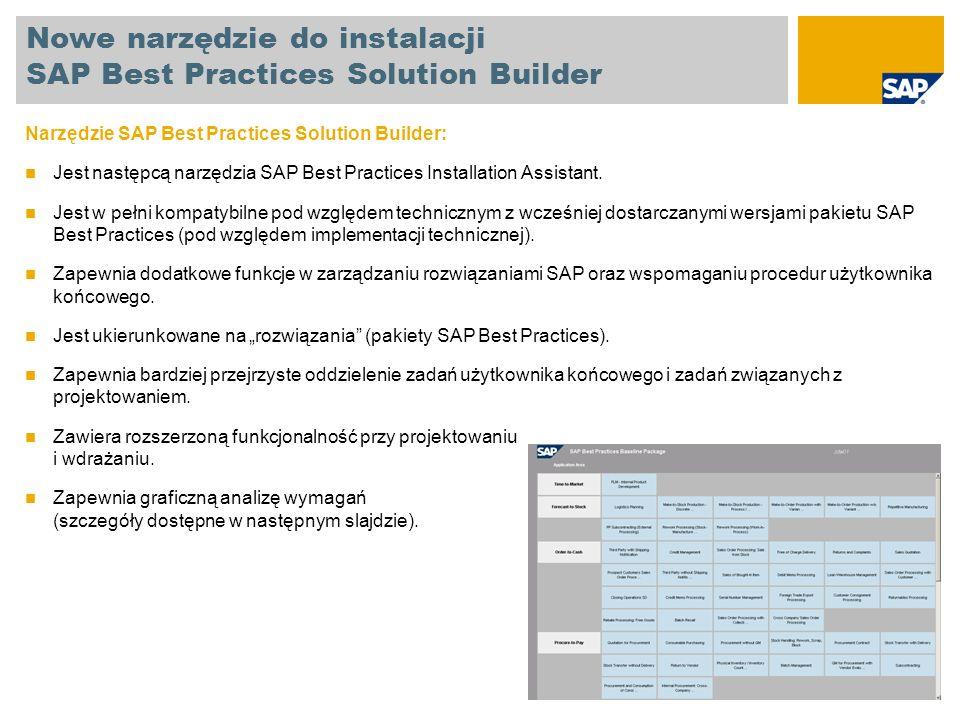 Nowe narzędzie do instalacji SAP Best Practices Solution Builder
