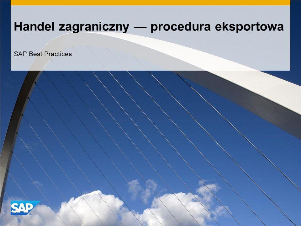 Handel zagraniczny — procedura eksportowa
