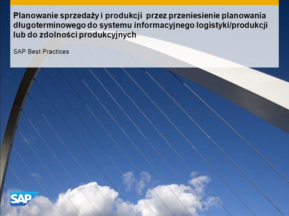 Planowanie sprzedaży i produkcji przez przeniesienie planowania długoterminowego do systemu informacyjnego logistyki/produkcji lub do zdolności produkcyjnych