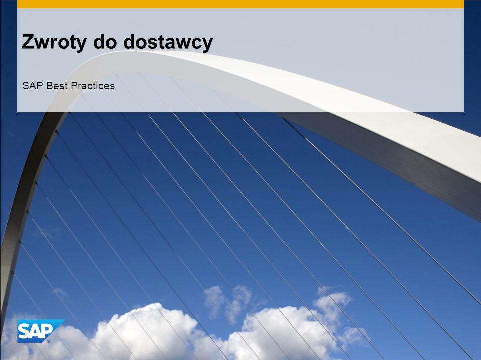 Zwroty do dostawcy SAP Best Practices