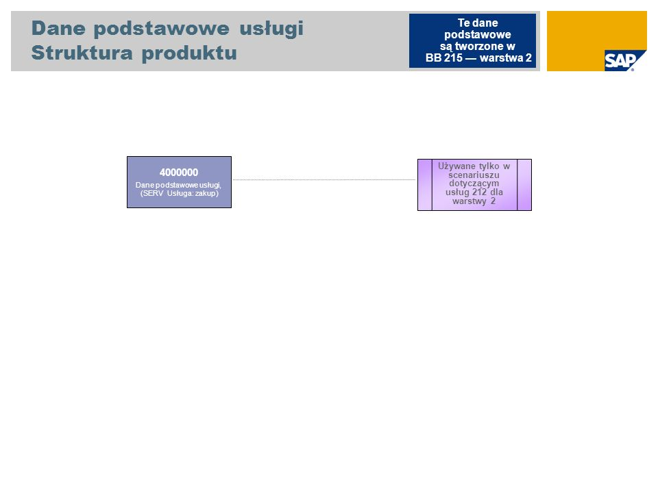 Dane podstawowe usługi Struktura produktu