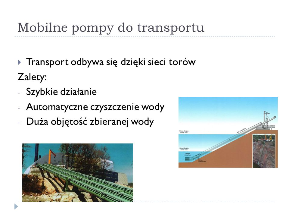 Mobilne pompy do transportu