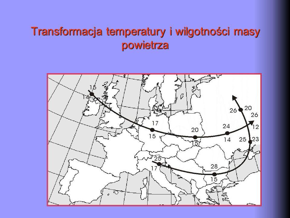 Transformacja temperatury i wilgotności masy powietrza