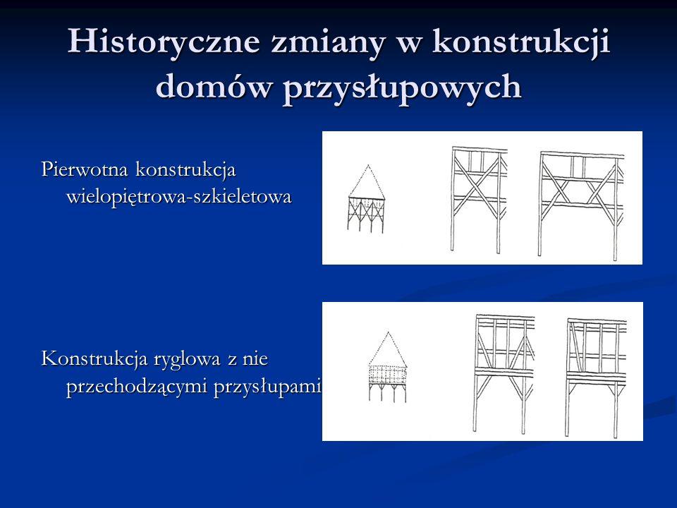 Historyczne zmiany w konstrukcji domów przysłupowych